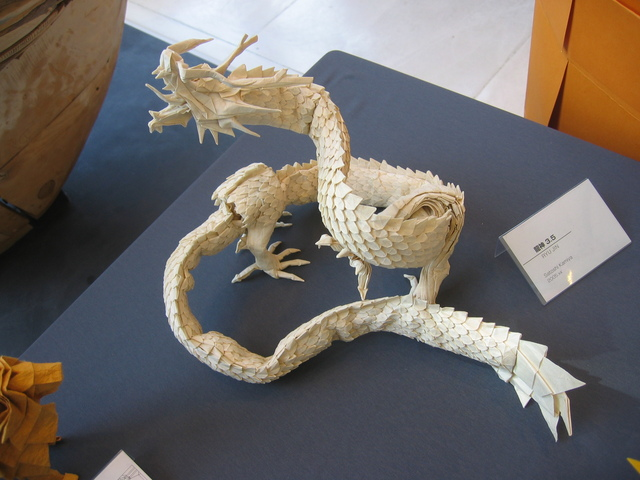 This Eastern Dragon Was Folded From A 2m Square Piece Of Paper It Took Satoshi About Two Months To Complete He Said Only Once