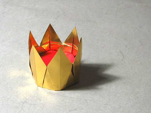 6 Pointed Crown Christiane Bettens Happy Folding