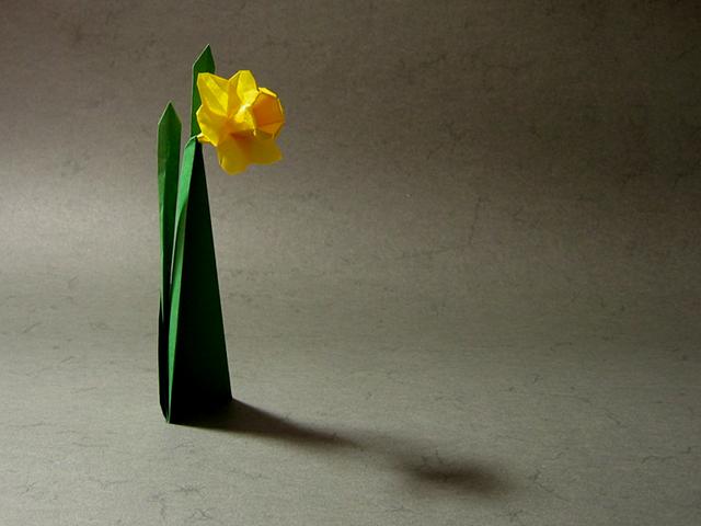 How To Make 3D Origami Daffodil Flower | DIY Paper Daffodil Flower ... | 480x640