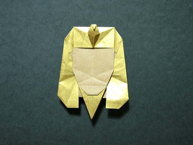 Blog, Tutankhamun mask (Marcela Brina) origami