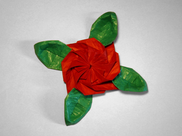 Flower with leaves peter budai happy folding flower with leaves peter budai mightylinksfo