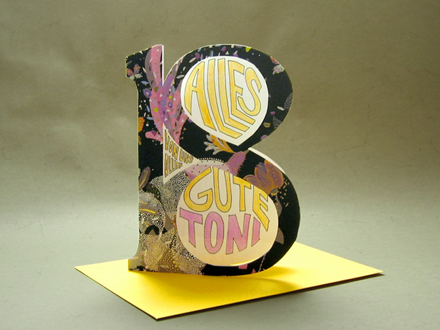 For my sisters 18th birthday I made this card, which has acetate ...
