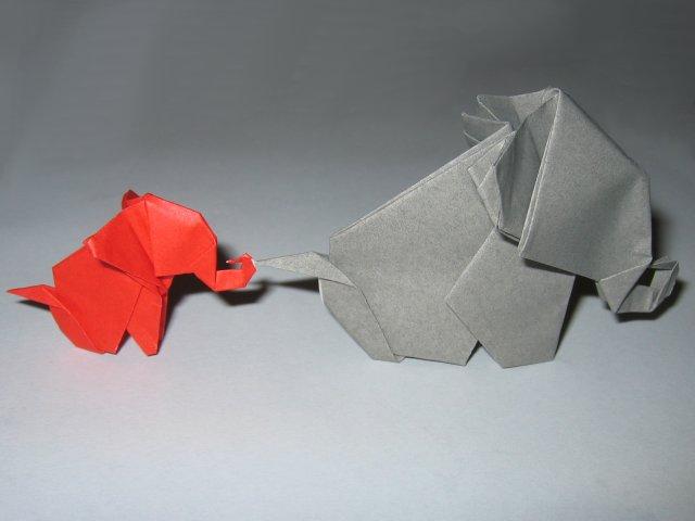 Elephant origami steps