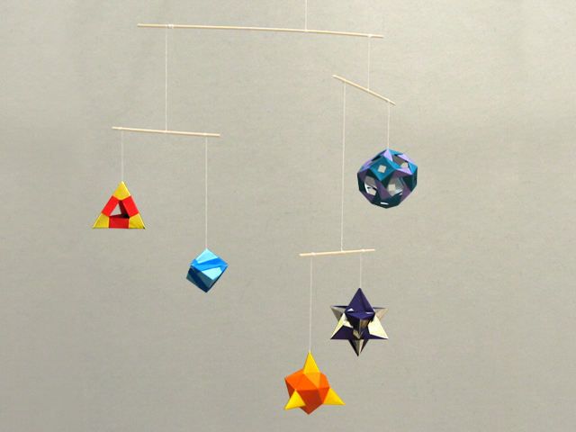 Origami Mobile Models By Tomoko Fuse Happy Folding
