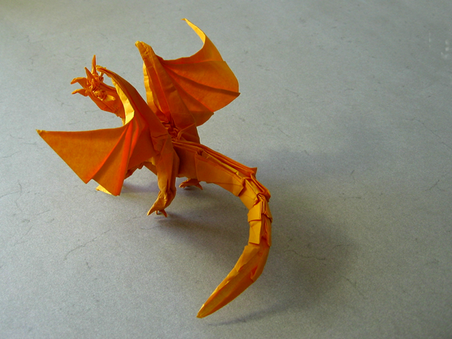 Ancient Dragon (Satoshi Kamiya): First Fold (Back View)