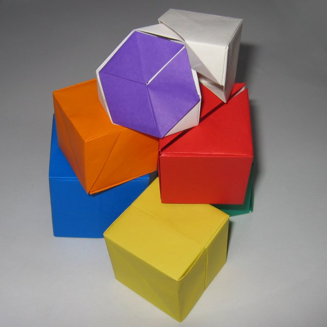 Origami 3D Cube - YouTube | 640x640