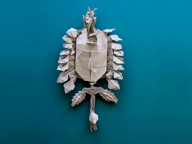 Black Forest Cuckoo Clock (Robert Lang): First Fold
