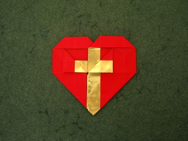 heart cross andrey lukyanov happy folding
