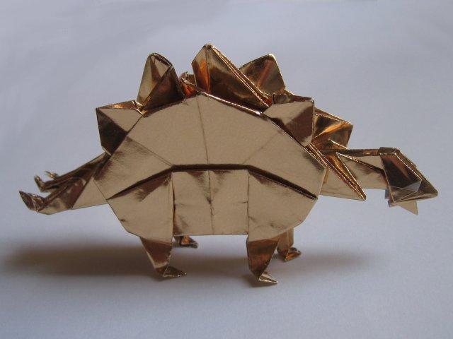 Origami Dinosaur Stegosaurus Instructions