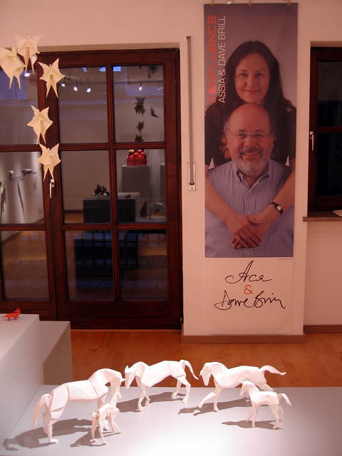 Origami Galerie: Banner for Exhibition Assia and Dave Brill