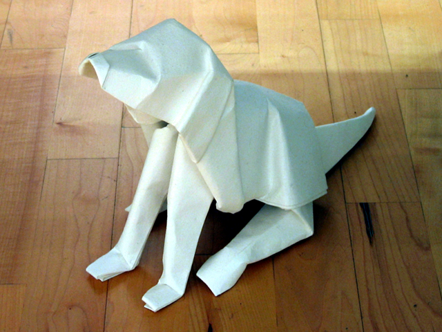 A Very cool #origami Box to put Valentine or Christmas gifts: the ... | 480x640
