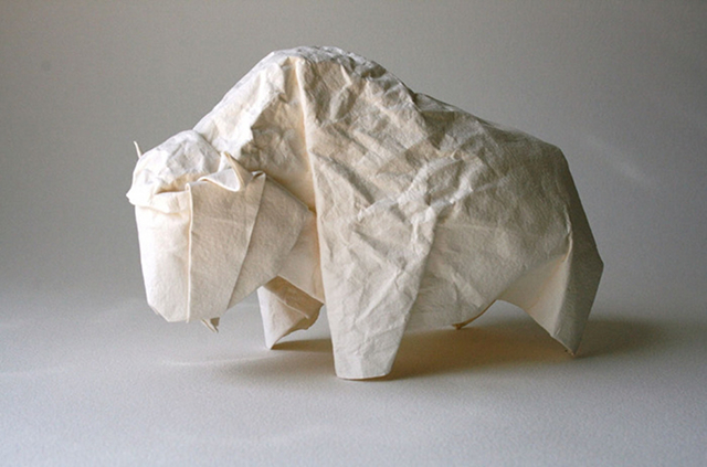 Bison designed and folded by Giang Dinh