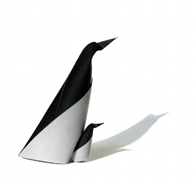 Penguin designed and folded by Giang Dinh