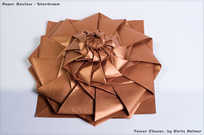 Stardream paper review happy folding i first folded with stardream when learning how to fold chris palmers flower tower mightylinksfo