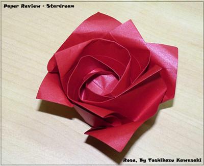 Stardream paper review happy folding rose by toshikazu kawasaki 2323cm mightylinksfo