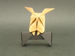 Horned Owl on Perch (Hideo Komatsu)